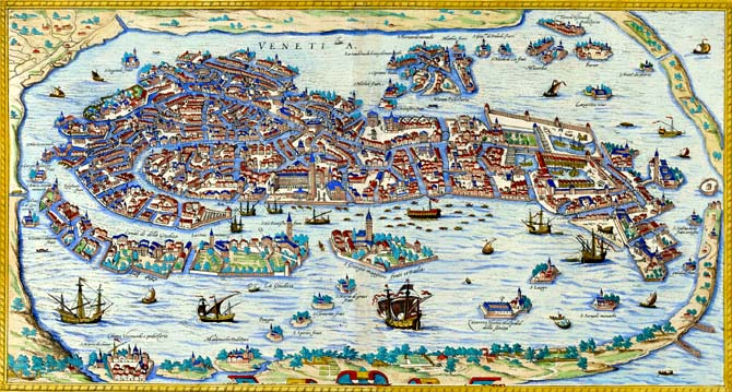 Venice Guide to Places of Interest in Venice – Venice Italy Tourist Map