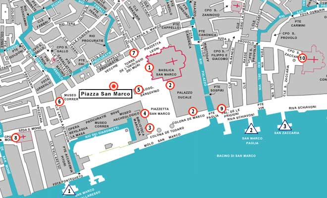 st marks square venice map
